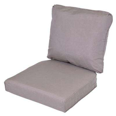 Lemon Grove Gray Replacement 2 Piece Outdoor Dining Chair Cushion