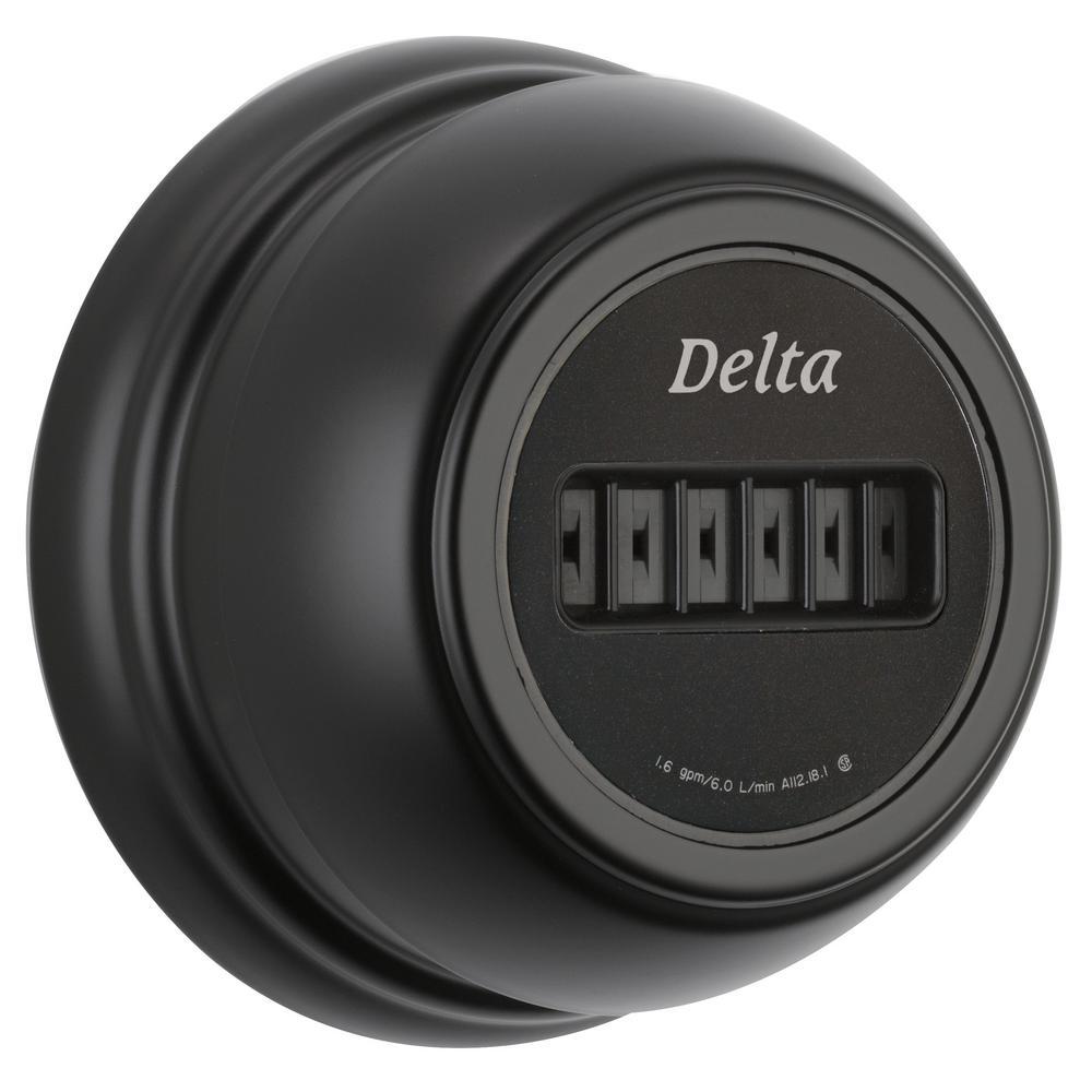Delta H2Okinetic 3.75 inch 1-Jet Shower System in Matte Black (Valve Not Included) by Delta