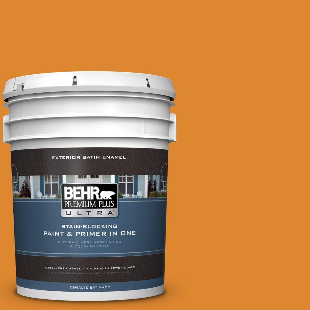 BEHR Premium Plus Ultra 5-gal. #280B-7 Status Bronze Sati...
