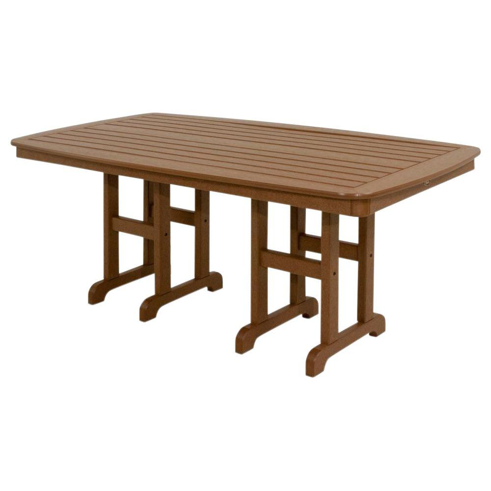 Trex Outdoor Furniture Yacht Club 37 in. x 72 in. Tree House Patio Dining Table