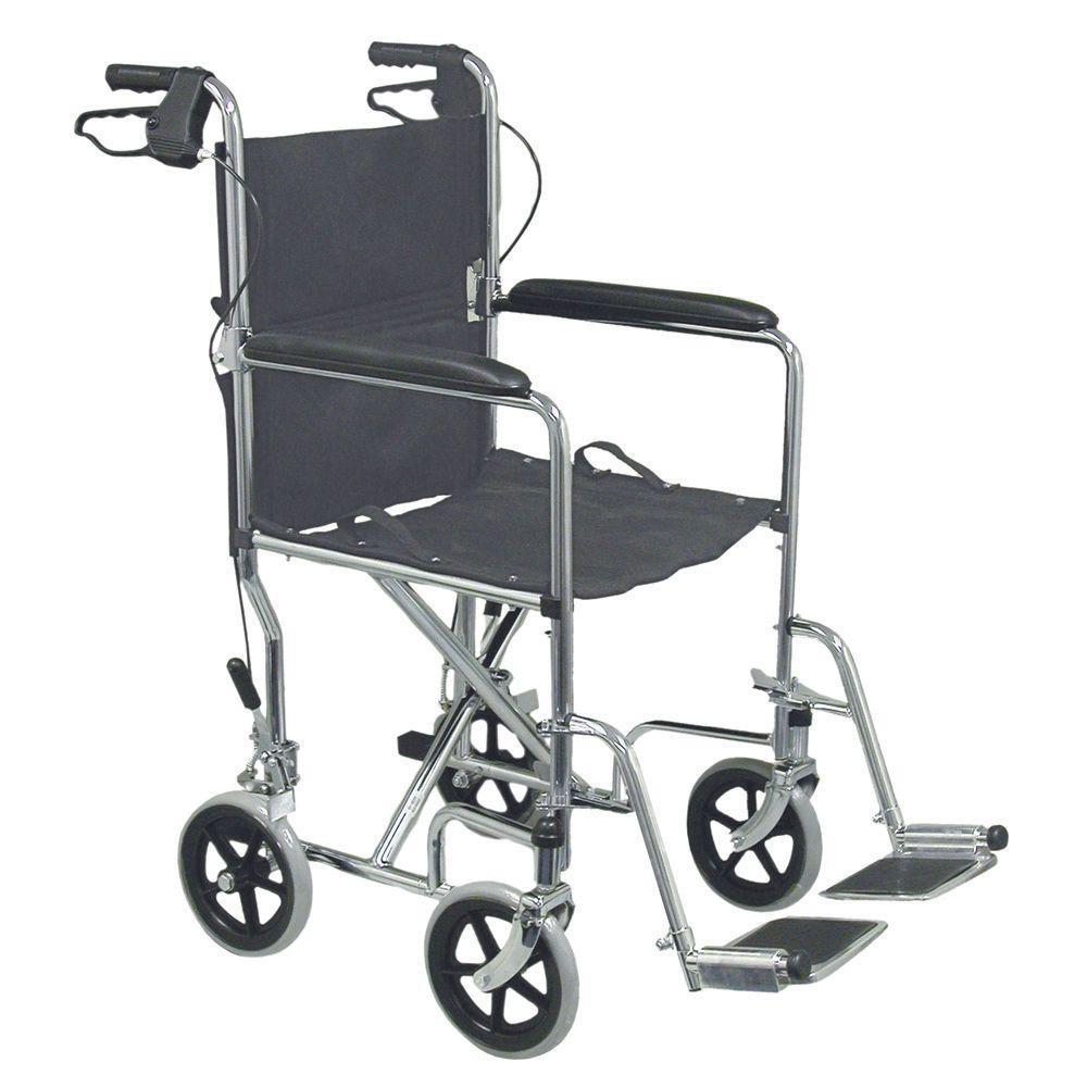 DMI Folding Transport Chair in Steel