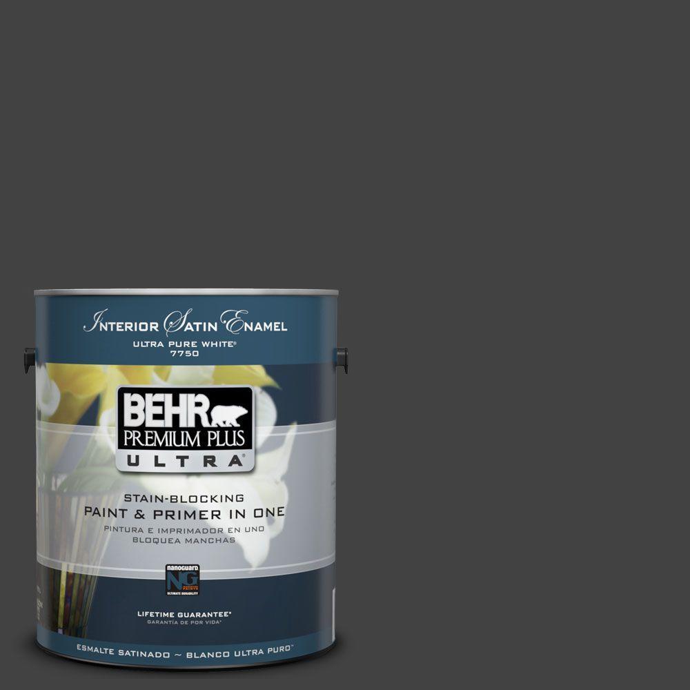 BEHR Premium Plus Ultra 1-Gal. #UL200-1 Broadway Interior Satin Enamel Paint
