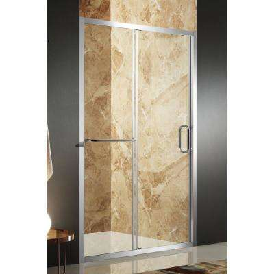 Regent 60 in. x 72 in. Framed Sliding Shower Door in Polished Chrome with Handle