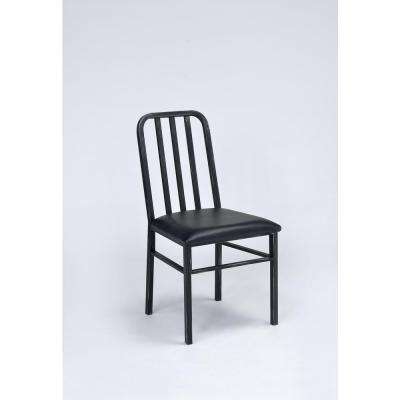 Jodie Antique Black Metal Dining Chair (Set of 2)