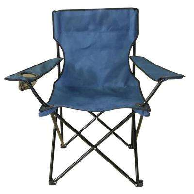Navy Blue Mesh Folding Chair for Outdoor Events