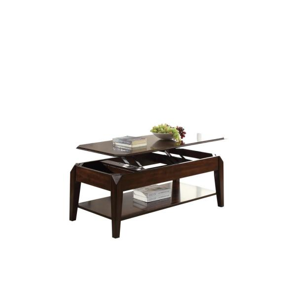 Amelia Walnut Coffee Table With Lift Top