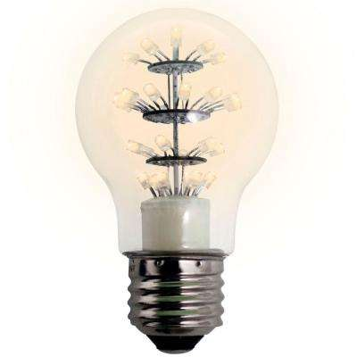 25W Equivalent Soft White A19 DIP LED Light Bulb 60D