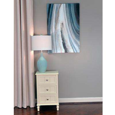 36 in. x 24 in. Grey Agate Stretched Painted Canvas Wall Art