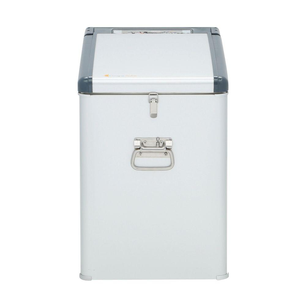 Grape Solar Glacier 1.1 cu. ft. Mini Refrigerator/Freezer in Grey with DC and AC Adapters