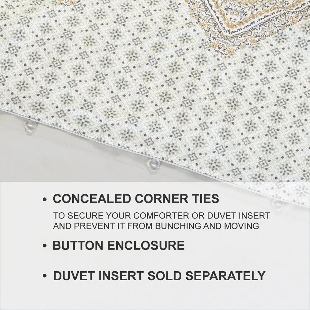 Delilah 3-Piece Medallion Duvet Cover Set