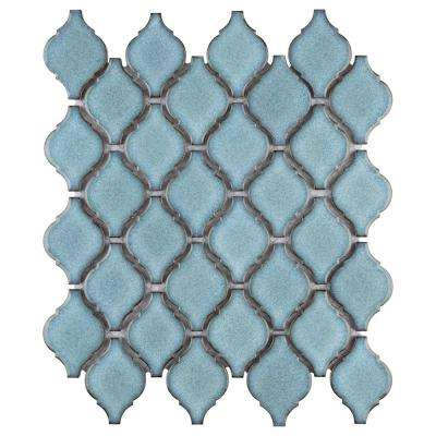 Arabesque Orion 9-7/8 in. x 11-1/8 in. x 6 mm Porcelain Mosaic Tile