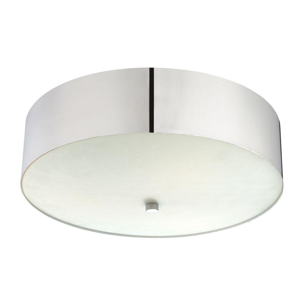 null Element Collection 3-Light Brushed Nickel Flushmount