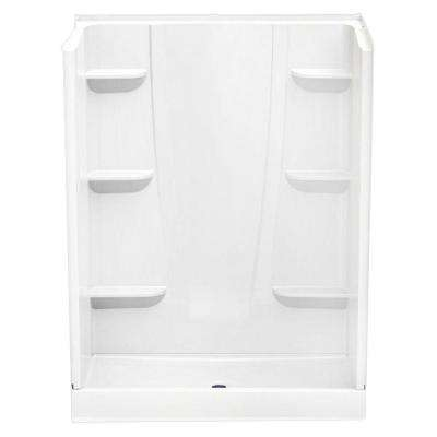 A2 34 in. x 60 in. x 76 in. Shower Stall in White