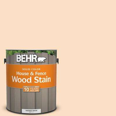 1 gal. #290C-2 Creamy Beige Solid Color House and Fence Exterior Wood Stain