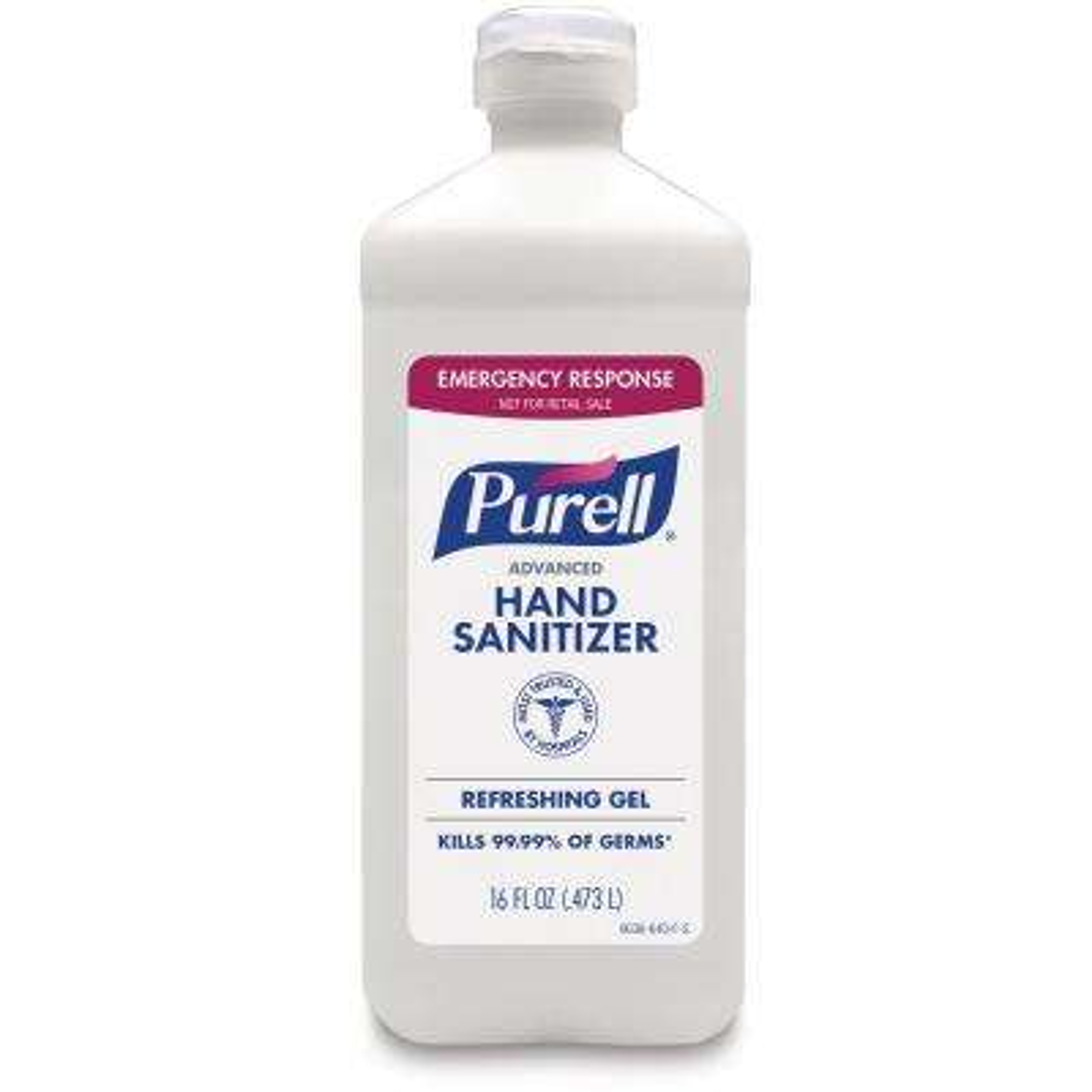 Flip Top 16 oz. Fragrance Free Instant Hand Sanitizer Bottle (12-Pack)