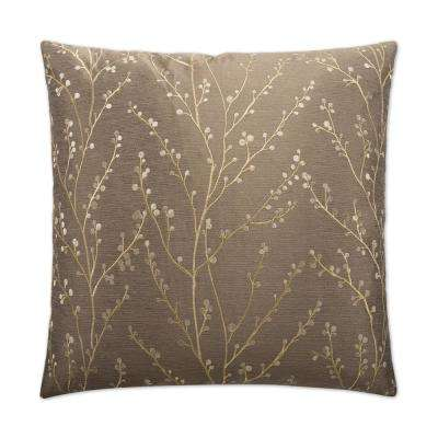 Catelyn Pewter Feather Down 24 in. x 24 in. Standard Decorative Throw Pillow