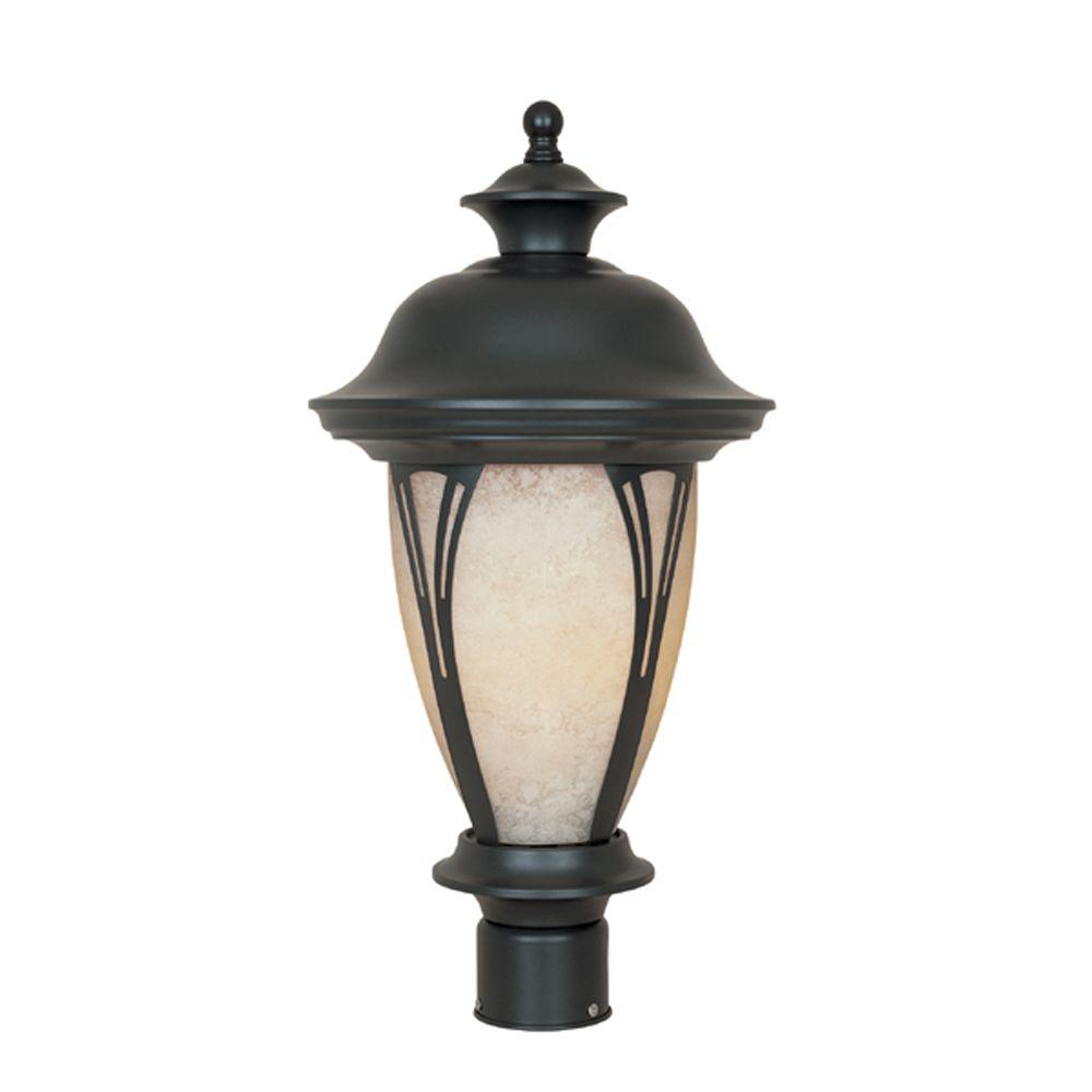 Thatcher Collection 3-Light Outdoor Bronze Post Lantern