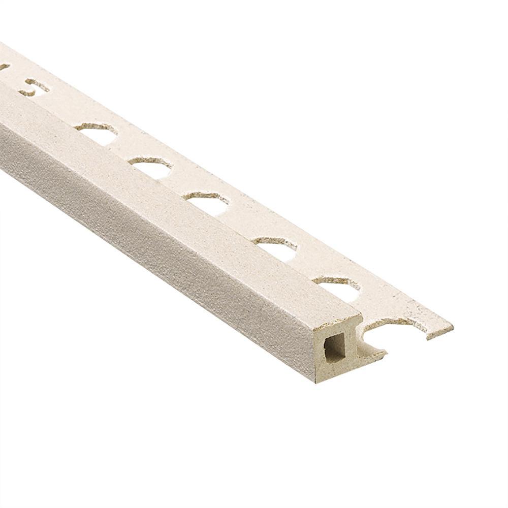 Novolistel Maxi Grey 1/2 in. x 98-1/2 in. Composite Tile Edging Trim