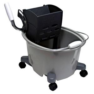 Quickie 5 Gal. Plastic Mop Bucket with Wringer by Quickie