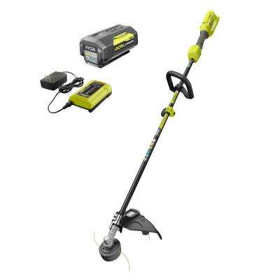 40-Volt Lithium-Ion Cordless Attachment Capable String Trimmer, 4 0 Ah  Battery and Charger Included