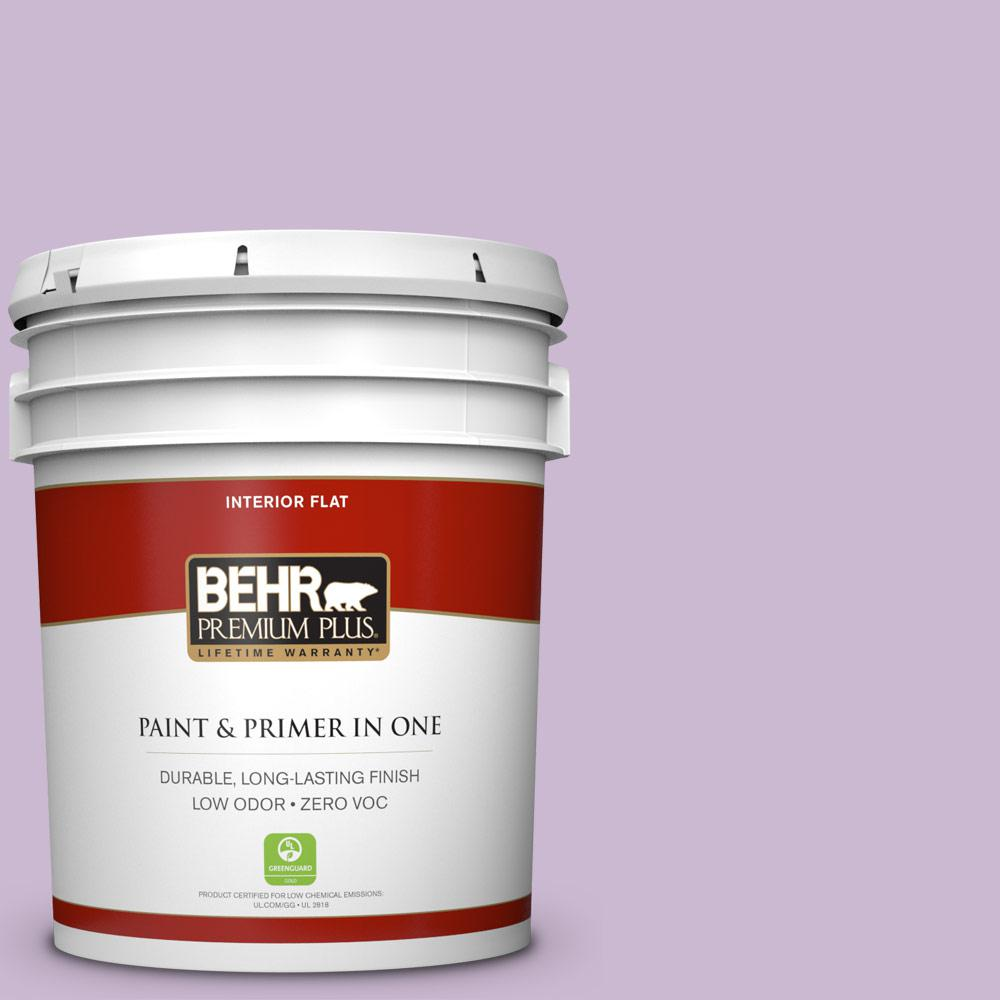 BEHR Premium Plus 5-gal. #660C-3 Sweet Petal Zero VOC Flat Interior Paint
