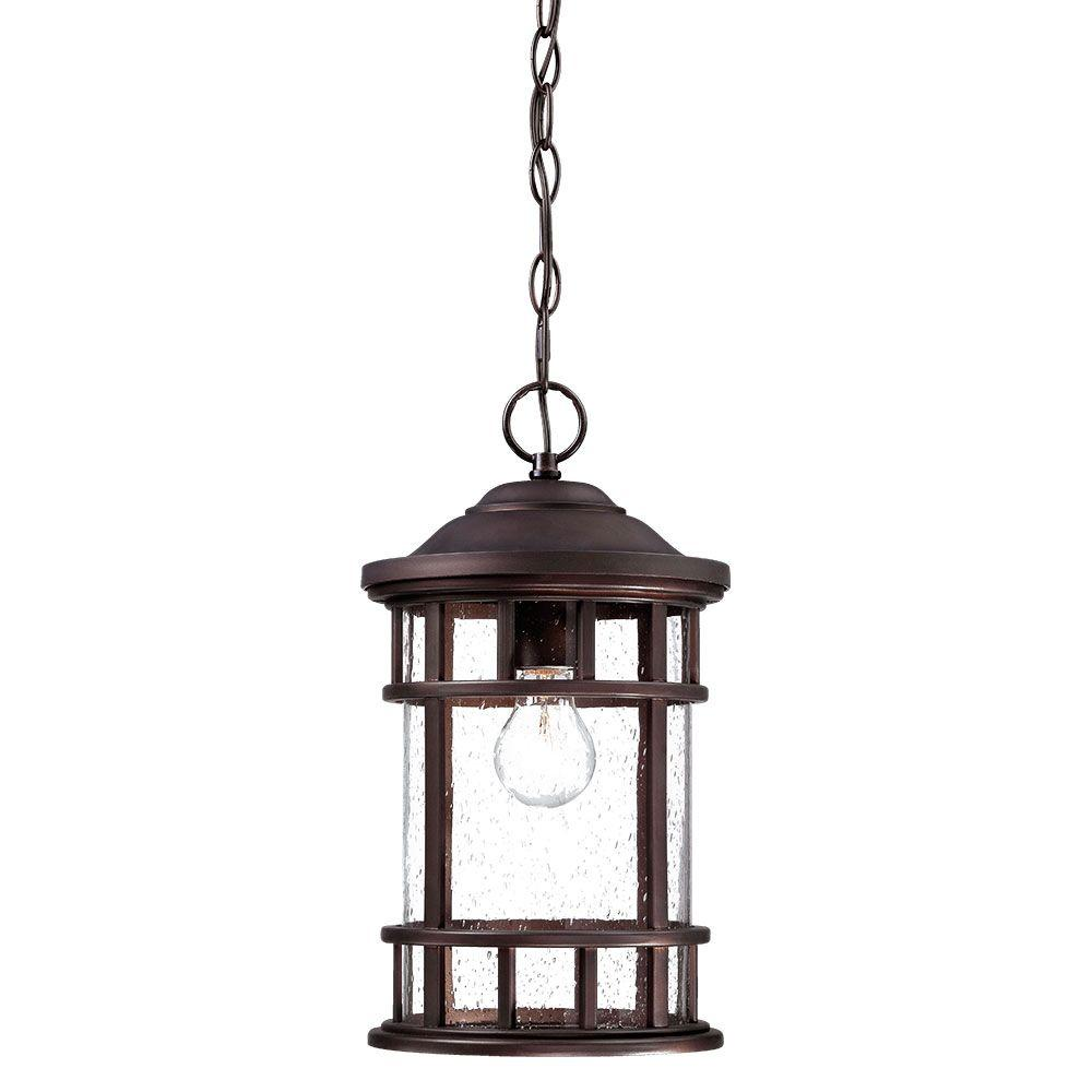 New Vista 1-Light Architectural Bronze Outdoor Hanging Lantern