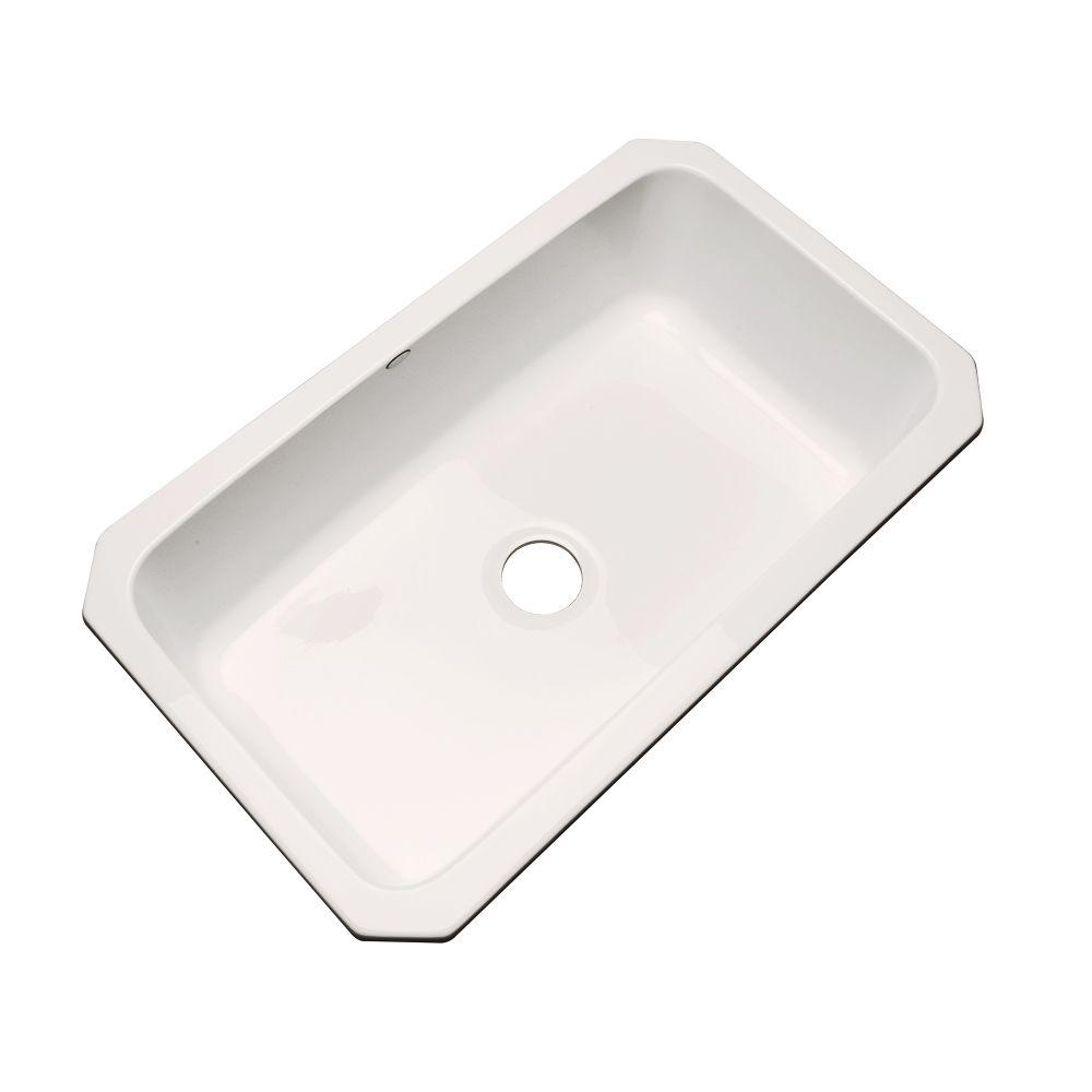 33x19 single bowl kitchen sink thermocast manhattan undermount acrylic 33 in single bow 33x19 single bowl kitchen sink plumbing fixtures compare prices