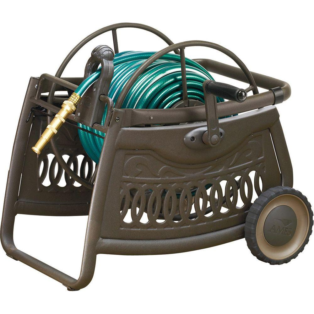 NeverLeak by Ames 150 ft. Decorative Metal Hose Cart