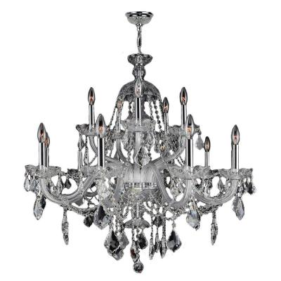 Provence Collection 15-Light Polished Chrome Crystal Chandelier