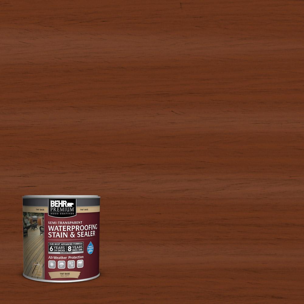 BEHR Premium 8 oz. #ST116 Woodbridge Semi-Transparent Waterproofing Stain and Sealer Sample