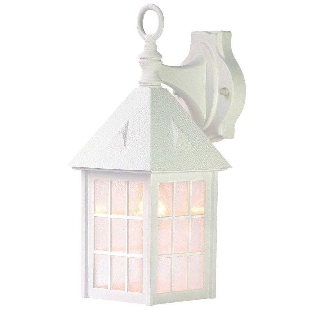 Acclaim Lighting Outer Banks Collection 1 Light Textured White Outdoor Wall Lantern Sconce
