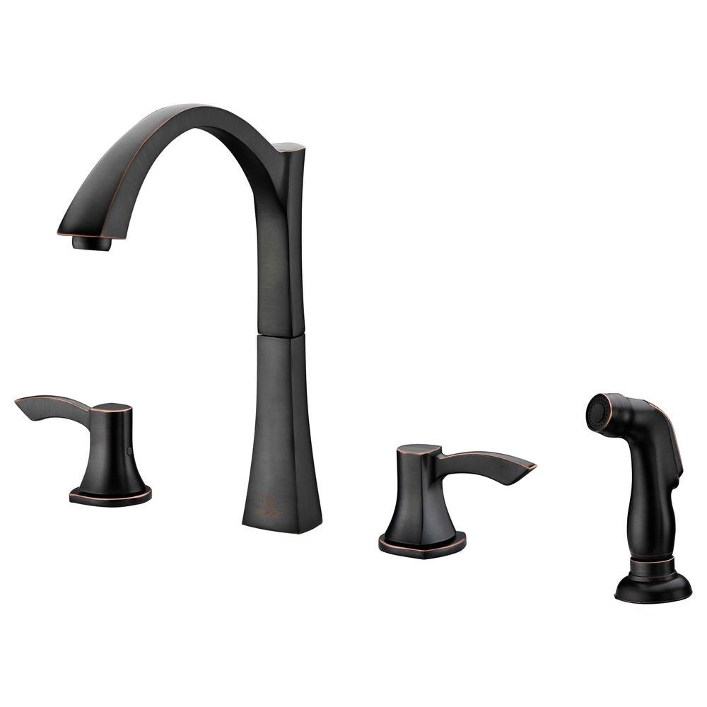 ANZZI Soave Series 2-Handle Standard Kitchen Faucet in Oil Rubbed Bronze