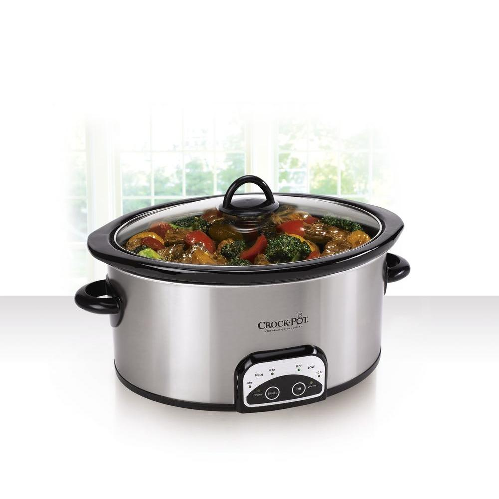Crockpot Smart-Pot 6 Qt. Programmable Slow Cooker, Silver