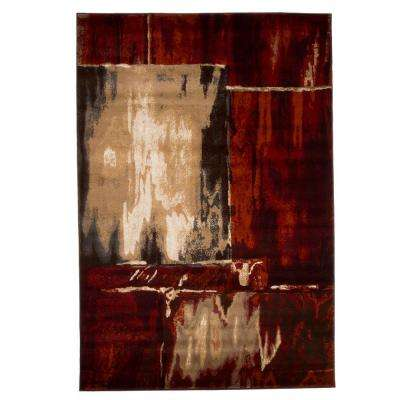 Opus Artfully Abstract Red 3 ft. 3 in. x 5 ft. Area Rug