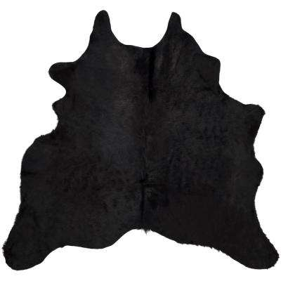 Cow Hide Black/Brown 6 ft. x 7 ft. Area Rug