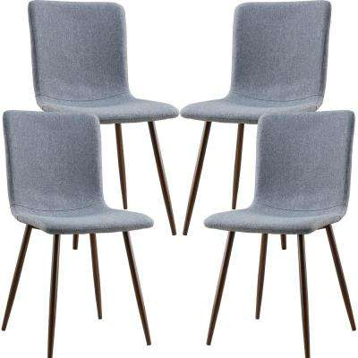 Wadsworth Dining Chair with Walnut Legs in Grey (Set of 4)
