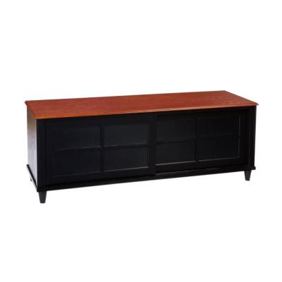 Designs2Go French Country Black and Oak Storage Entertainment Center