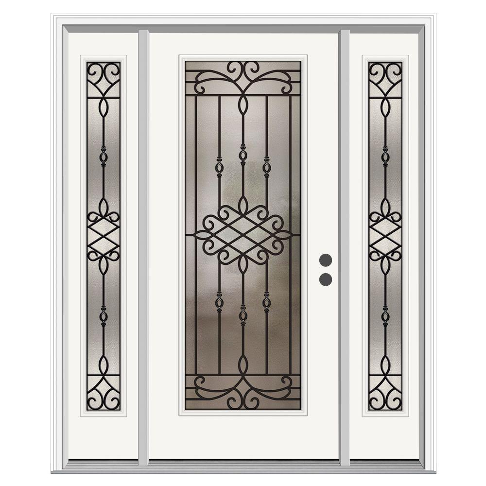 Jeld Wen Front Entry Doors: JELD-WEN 62 In. X 80 In. Full Lite Sanibel Primed Steel