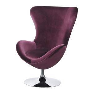 Awe Inspiring Eloise Purple Chair With Ottoman High Chair Back Gamerscity Chair Design For Home Gamerscityorg