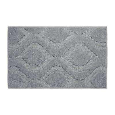 Mia Wild Gray 21 in. x 34 in. Bath Mat