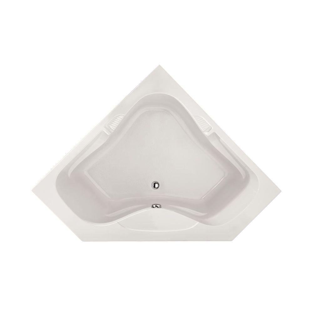 Lexington 5 ft. Reversible Drain Air Bath Tub in White