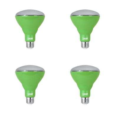 9-Watt Equivalent BR30 Medium E26 Non-Dimmable Indoor and Greenhouse Full Spectrum Plant Grow LED Light Bulb (4-Pack)