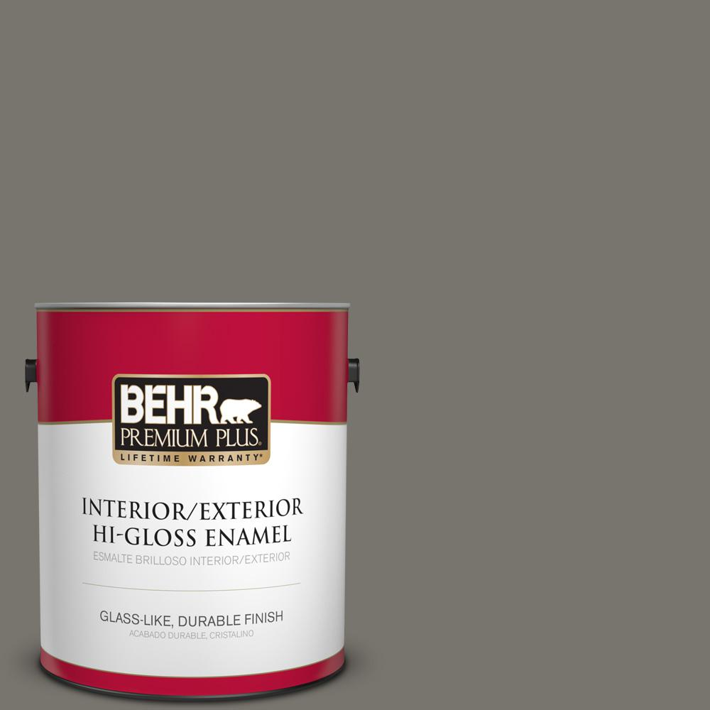 1 gal. #PPU24-06 Slippery Shale Hi-Gloss Enamel Interior/Exterior Paint