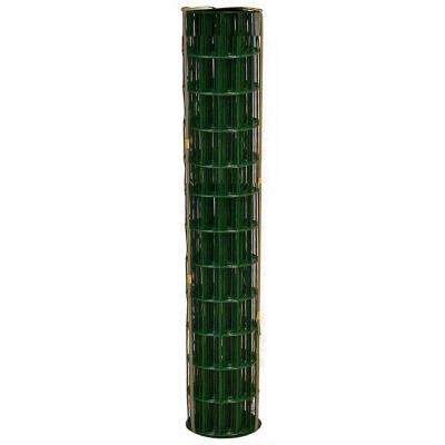 3 ft. x 50 ft. 14-Gauge Green PVC-Coated Welded Wire