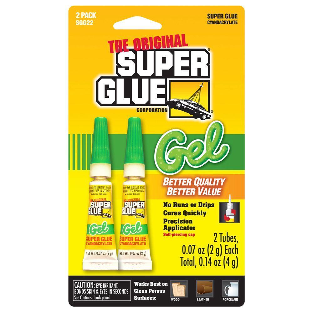 Super Glue 0.07 oz. Glue Gel, (2) 0.07 oz. Tubes per card, Case pack of 12 cards