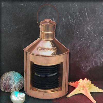 A Hand Tooled Handcrafted Copper Port Oil Lamp