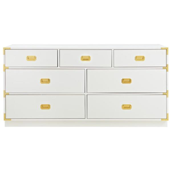 Home Decorators Collection - Chatham 7-Drawer White Dresser
