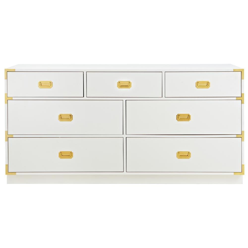 Chatham 7-Drawer White Dresser