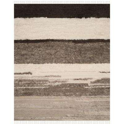 Kenya Ivory/Gray 9 ft. x 12 ft. Area Rug