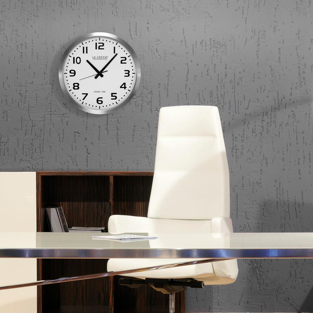 La crosse technology 16 in analog atomic clock wt 3161wh the analog atomic clock amipublicfo Choice Image